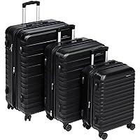 AmazonBasics Hardside Spinner 3 Piece Luggage Set (Black)
