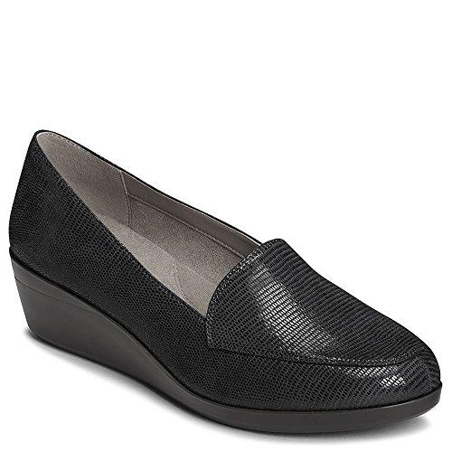 Aerosoles Shoes Ladies (Aerosoles Women's True Match Loafer, Black Lizard, 7.5 M US)