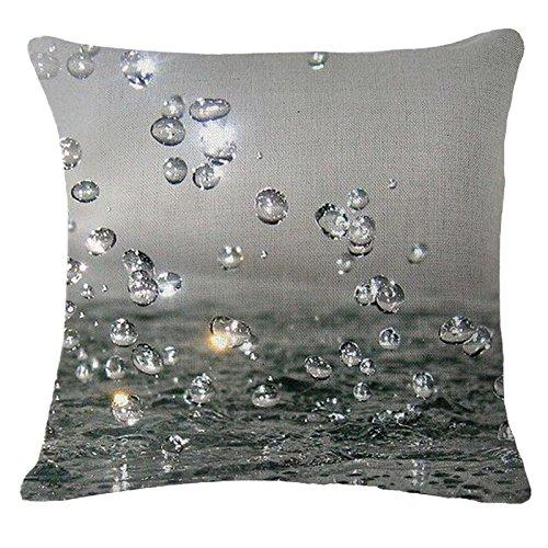 teebxtile hinchable kampierendes Cojín patrón de gotas de agua ...