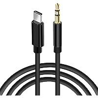 aceyoon USB C Klinke Kabel 1m USB C zu Aux Adapter USBC Stecker auf 3.5mm Male Adapterkabel Typ C Kopfhörer Auto Audiokabel mit DAC Komapatible mit Google Pixel 2 Moto Z HTC Huawei MEHRWEG