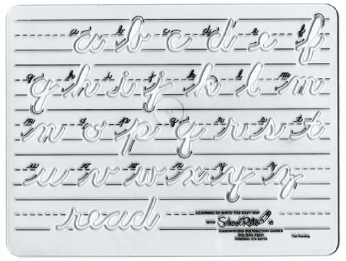 School-Rite Transitional Cursive Template, Lowercase 8681