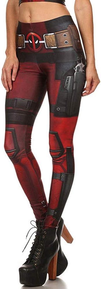 Girls Popular 3D Printing Game Cosplay Pattern Flexible Leggings
