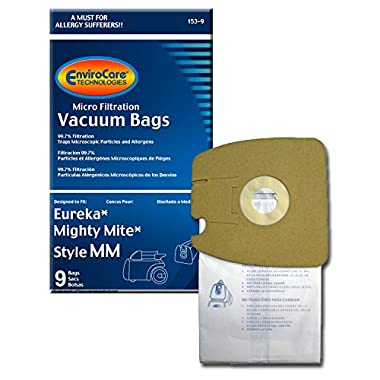 EnviroCare Replacement Micro Filtration Vacuum Bags for Eureka Style MM Eureka Mighty Mite 3670 and 3680 Series Canisters 9 Bags