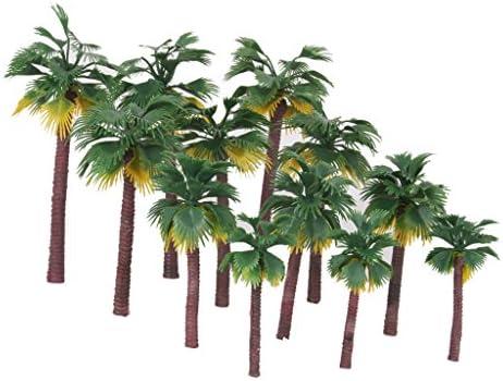 樹木 ヤシの木 熱帯雨林 木 モデルツリー 鉄道レイアウトウォーゲーム Nゲージ用 情景コレクション ザ ・ 鉄道模型・ジオラマ・建築模型・電車模型に 12個