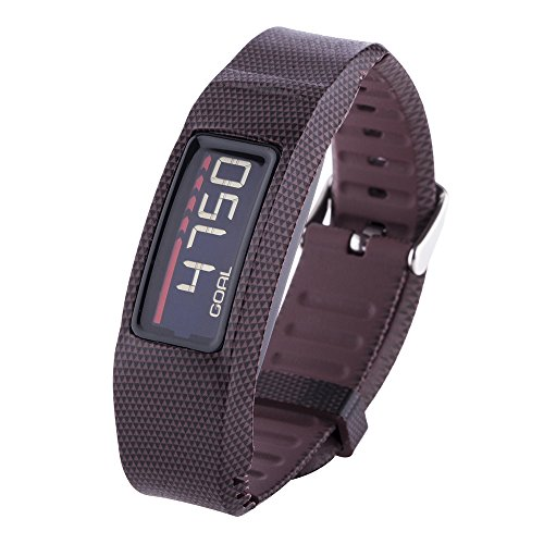 Greatfine Armband for Garmin Vivofit 2 Armband Fitnessband mit Chrom Uhrschnalle for alle ( Triangle Brown )