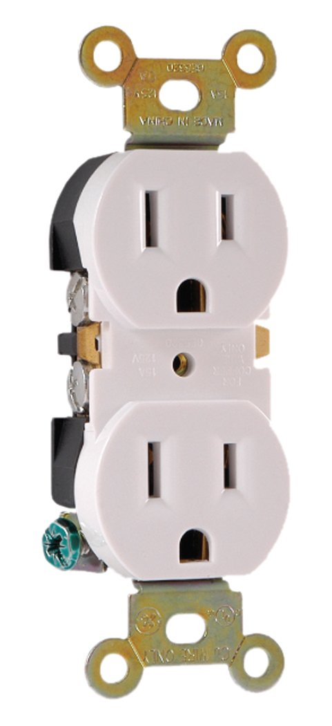GE 54864 Duplex Residential Receptacle (30 Piece Tray Pack), White