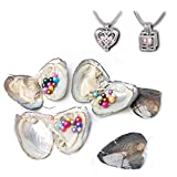 Oyster Pearls Cultured Freshwater Love Wish Round Pearl Party Akoya Oysters Bulk (Oyster 3PCS)
