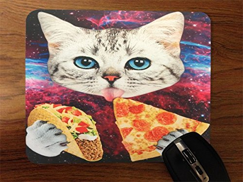 Junk Food Kitty Fast Food Cat Desktop Office Silicone Mouse Pad by Debbie's Designs by Debbie's Designs