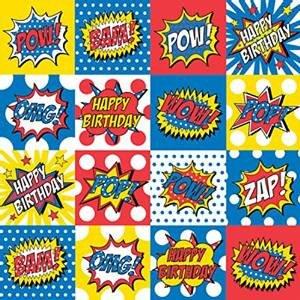 amazon com bam pow zap comic superhero theme 24 x 6 flat gift