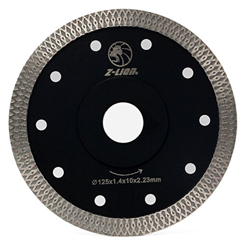 5 inch Diamond Saw Blade Continuous Wide Turbo Teeth,Super Thin Diamond Cutting Blade with Cooling Holes for Granite Marble Concrete Stone - Cut Blade Gas Saw Off