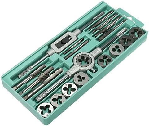 High Hardness M10 Alloyed Tool Steel Metric Tap Set Tap Wrench Set 20Pcs Metric Hand Screw Tap Threading Tapping Taps