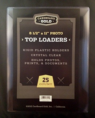 1 Case (250ct) Cardboard Gold 8.5'' x 11'' Photo / Document Top Loaders - Next Generation Archival Protection PRO Toploaders KEEPS LARGER 8.5x11 items ULTRA PROTECTED by CBG