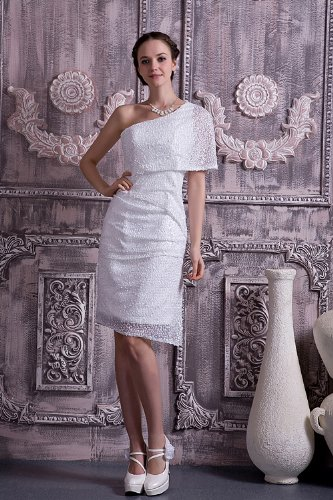 leger GEORGE neue BRIDE Weiß Abendkleid moderne Hochzeitskleider kurze Hochzeitskleid Brautkleider CqqUtFwrx