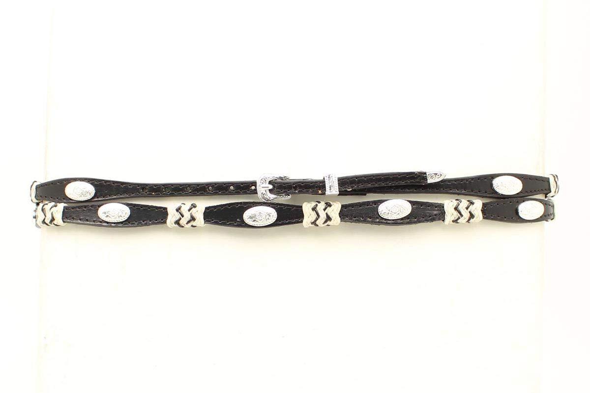 M&F Western Hatband Mens Scallop Concho Reg Black 0294801