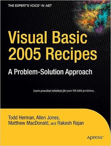 Visual C# 2005 Recipes: A Problem-Solution Approach (A Problem - Solution Approach)