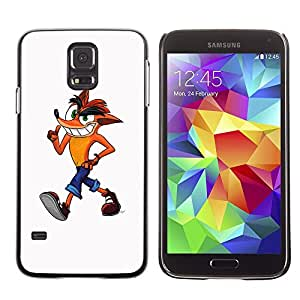 Stuss Case / Funda Carcasa protectora - Fox Cartoon Character Drawing Childrens Art - Samsung Galaxy S5 SM-G900