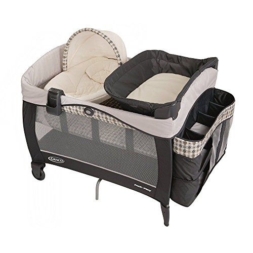 LUXURY BABY PLAYARD + NEW BORN NAPPER ELITE & BASSINET WITH LUXURIOUS FABRICS PROVIDES A COZY HAVEN FOR BABY, AT HOME AND AWAY. (Expresso Portable Crib compare prices)