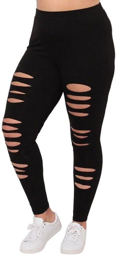 Amazon.com: WM & MW Plus tamaño Leggings, para mujer Sexy ...