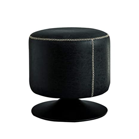 Magnificent Lovehouse Round Swivel Ottoman Faux Leather Ottoman Foot Inzonedesignstudio Interior Chair Design Inzonedesignstudiocom