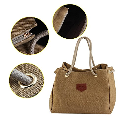 Swiftswan Casual Bag Rope Design Woman Made Strap Bag Single Hemp Cloth Canvas shoulder rpBrq