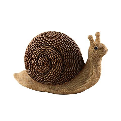 Garden Turtle Statue Resin Rattan Effect Tortoise Statue Snails Statue Patio Decor Indoor Outdoor Figurine (snails) For Sale