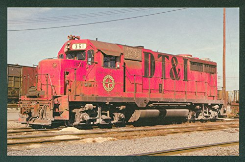 Detroit Toledo Irontown GP35 DT&I Diesel Train Engine Railroad Postcard