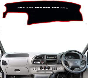 HJPOQZ Car Dashboard Cover Dash mat Pad Carpet Dash Mat, for Ford Transit 2013 2014 2015 2016
