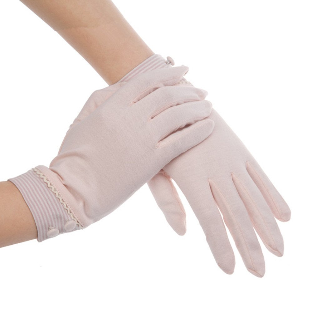 Kenmont Summer Women Sun Uv Protection Outdoor Solid Color Cotton Driving Gloves KM-2965-36F