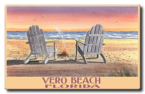 Vero Beach Florida Adirondack Chairs Beach Aluminum Hd Metal Wall Art by Artist Dave