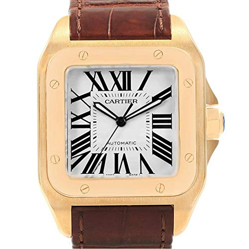 Cartier Santos 100 Automatic-self-Wind Male Watch W20071Y1 (Certified Pre-Owned)