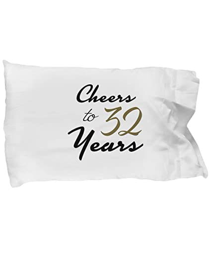 desidd 32nd birthday pillowcase happy birthday gifts for 32 year old women unique pillow