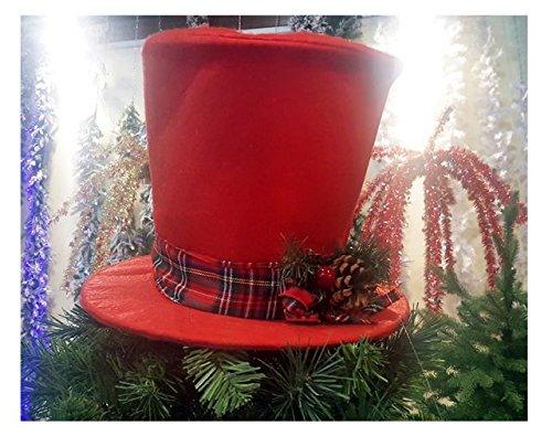 Puntale per Albero di Natale a forma di Cappello a Cilindro  Amazon.it   Casa e cucina 4fcb1c5a56a9