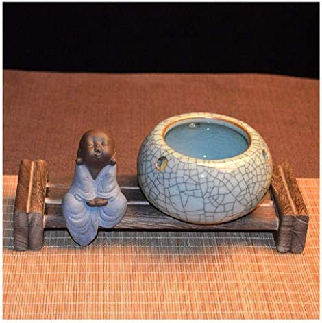 葉巻灰皿, 灰皿喫煙灰皿セラミック灰皿木製ベースラウンド卓上灰皿タバコタバコ葉巻アウトドアアッシュトレイホームオフィスデコレーション(サイズ:C)を、サイズ:D (Size : G)