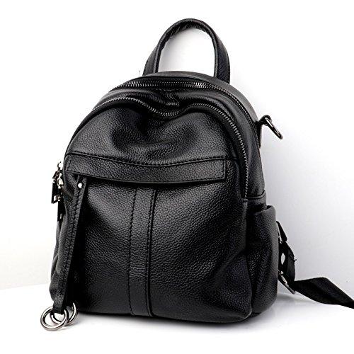 HHF Bags & Handbag レザー ファッション バックパック 2018 レディース ショルダーバッグ ファーストレイヤー レザー レディース ショルダーバッグ ハンドバッグ Medium ブラック B07KVFVX1Z