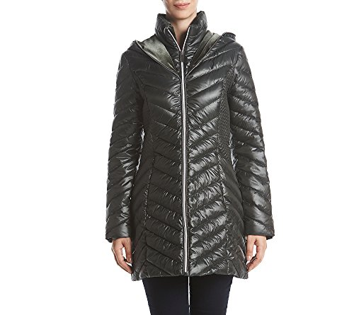 Laundry Coat Quilted (Laundry Puffer Hooded Quilted Down Coat Rainforest Medium)