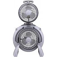Hunter FSQQ 3-Speed Adjustable Dual Portable Fan in White (Room Fan, Portable Fan)