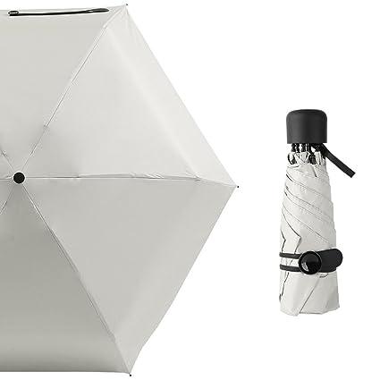 Sombrilla De ZAIYI Paraguas De Sol De Bolsillo Para Mujeres Protección Solar UV Clima Lluvioso Dual