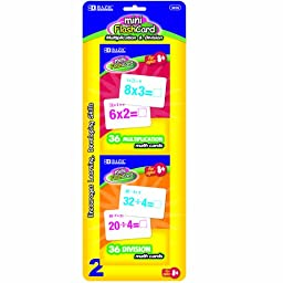 BAZIC Multiplication and Division Mini Flash Card, 36 Count (2 Per Pack)