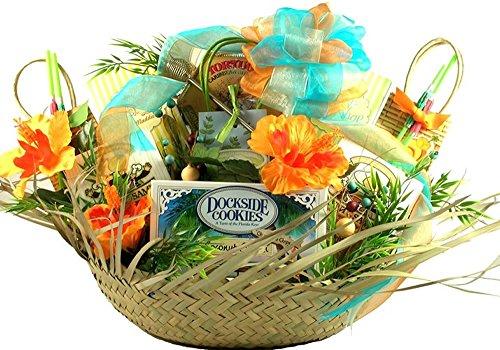 - Gift Basket Village - 5 O'clock Somewhere, Tropical Gift Basket - With 16