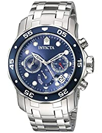 Invicta Men's 'Pro Diver' Quartz Stainless Steel Automatic Watch, Silver-Toned (Model: 21921)