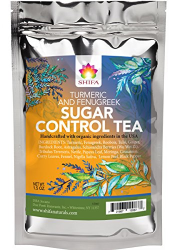 Diabetes Tea - Shifa Sugar Control Tea (Turmeric and Fenugreek): Herbal Formula for Sugar Balance and Metabolism with Phytonutrients and Antioxidants — 1.75 oz.