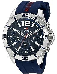 Tommy Hilfiger Mens 1791142 Cool Sport Analog Display Quartz Blue Watch