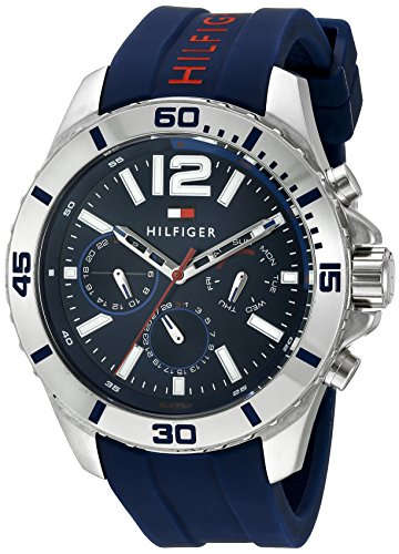 Tommy Hilfiger Men's 1791142 Cool Sport Analog Display Quartz Blue...