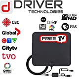 DRIVER TECHNOLOGIES HD Digital TV Antenna Version 2018 with 80 Miles Super Long