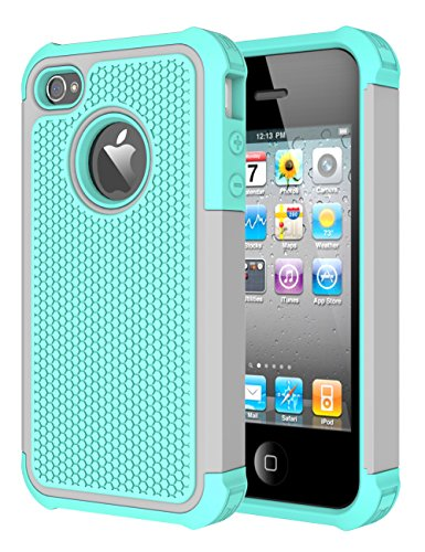 iphone 4 protective case blue - 2