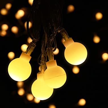 Furado Globe String Lights, 33ft LED Globe String Lights Outdoor Indoor,Battery Powered Fairy Lights,Waterproof Decorative LED String Lights for Patio Garden Party Xmas Tree Wedding(Warm White)
