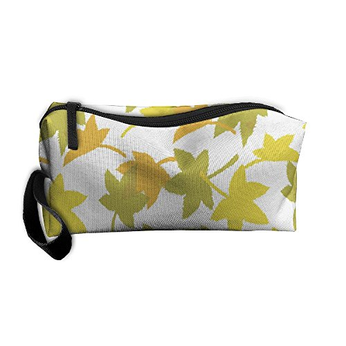 Yellow Maple Leaves Zipper Up Portable Bag Package For - All Black Asap Rocky