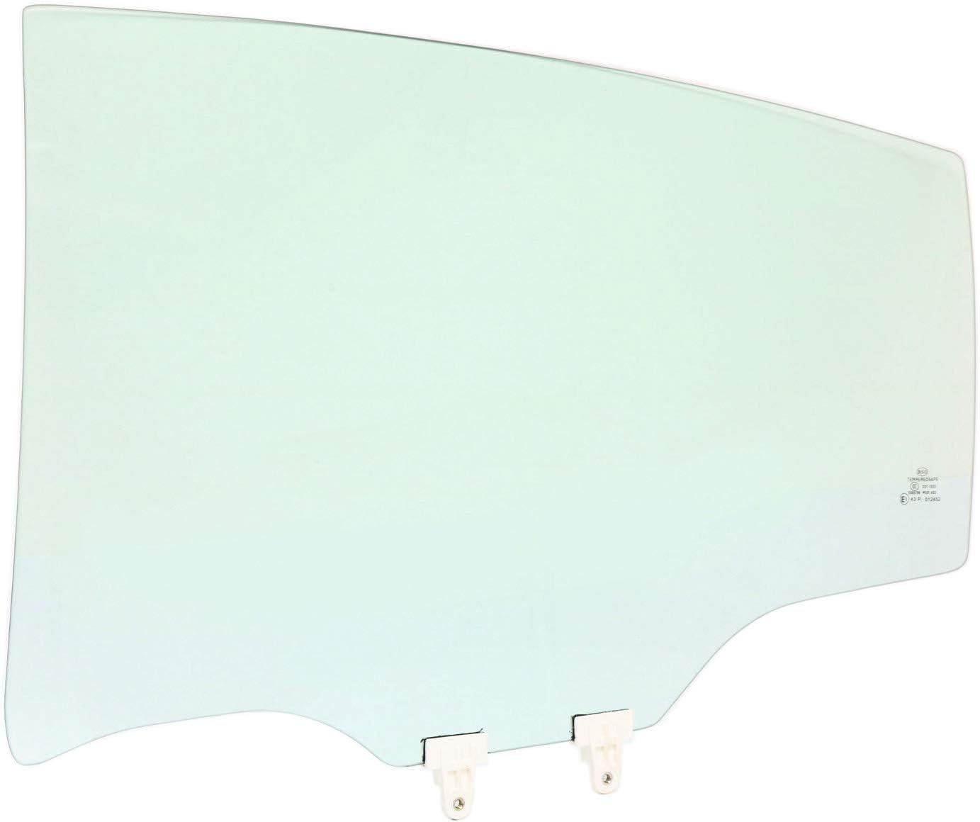 Rear Door Glass Compatible with 2007-2012 Nissan Altima 4-Door Sedan Driver Side