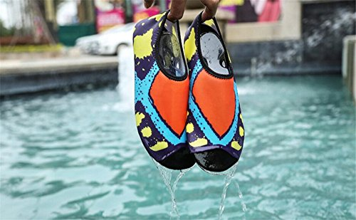 Womens Diving Surf Sports eleganceoo Aqua Walking Multicoloured Water Pool Beach Shoes Swim Dry for Shoes Quick dxSTwp0q