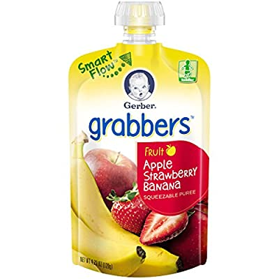 Gerber Graduates Grabbers, 4.23 Ounce Pouches (Pack of 12) by Gerber Graduates that we recomend individually.